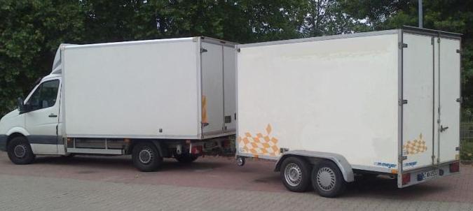 Unser 3,5 T Lkw mit Anhänger